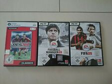 Fifa 09 + Fussball Manager 09 + PES 2010 PC Spiele