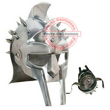 Fully Wearable Gladiator Movie Helmet Roman Arena Knight Maximus Armour w/ Liner
