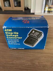 UK Step up Voltage 110V to 220V UK to US Plug Converter 45 Watts