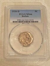 1938-D Buffalo Nickel PCGS MS66