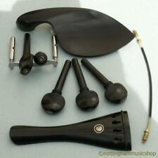 EBONY VIOLIN PARTS SET PEGS TAIL CHINREST TAIL GUT ? SIZE