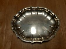 Chippendale international silver company plate with inscription Oleander Open