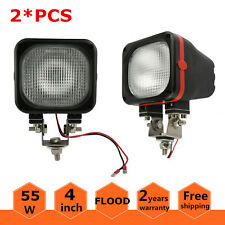 2X 4inch 55W HID Xenon 12V Flood Light Off-road Driving 4WD Truck SUV Boat Jeep