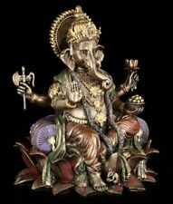 Ganesha Figura - Gott der REINHEIT - sobre loto - Hindu Buda Divinidad