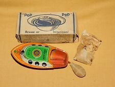 VINTAGE TOY ALPS TOY CO JAPAN TIN LITHO POP POP CANDLE POWERED BOAT IN BOX NO D