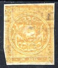 EDUADOR 1872 SCOTT 1 MINT OG SMALL TEAR QUADRILLE PAPER