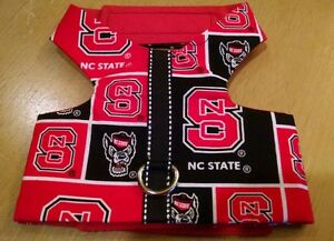NC State fabric Pet Dog homemade Harness vest L (369-370)