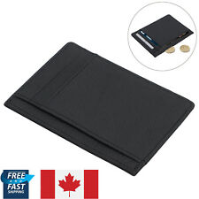 Men's Leather Wallet Opal Credit ID Card Holder 6 Slot Slim Black Money pouch CA