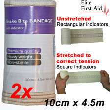 2 x Premium Snake Bite Bandage with compression indicator. 10cm x 4.5m