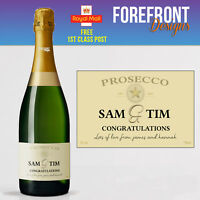 Personalised Prosecco bottle label, Perfect Birthday/Wedding/Engagement gift