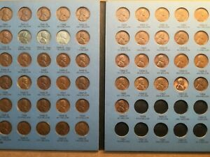 Lincoln Wheat Penny Cent 1941-1958 ALL HIGH GRADES Complete Collectionof P D S