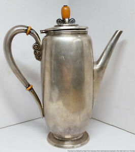 International Sterling Silver 15 Cup Pitcher Vintage Danish C156 3BY