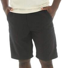 Wrangler Mens Shorts Solid Black Size 34 Performance Flat Front Cargo $35- 329