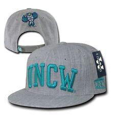 Gray UNCW UNC Wilmington Seahawks NCAA Flat Bill Snapback Baseball Ball Hat Cap