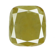 Natural Loose Diamond Yellow Green Color Cushion I3 Clarity 6.00MM 1.05 CT N7089