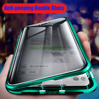 For Apple iPhone 11 Pro Max Magnetic Adsorption Tempered Glass Back Case Cover