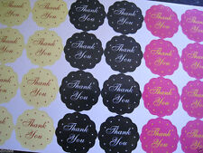 24X THANK YOU HANDMADE BIRTHDAY SEAL WHITE KRAFT WEDDING FAVOURS LABEL STICKERS
