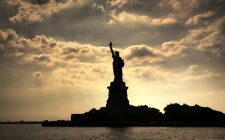 """STATUE OF LIBERTY NY A2 CANVAS GICLEE PRINT POSTER FRAMED 23.4"""" x 15.4"""""""