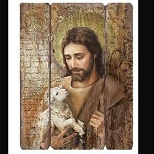 Jesus The Good Shepherd Wall Panel Picture Jesus with Lamb Joseph Studio #44556