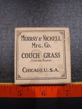 Vintage Couch Grass Crude Drugs Box With Content.