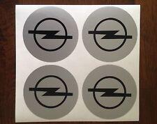 4x 60 mm fits opel wheel STICKERS center badge centre trim cap hub alloy bk