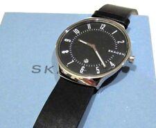 Skagen Men's Grenen Watch Black Dial Black Leather Strap 38mm SKW6459 NWT $125