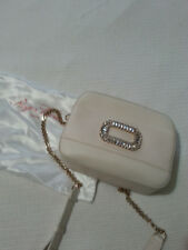 New Roger Vivier Mini Strass Buckle Ivory leather bag with tags and dust bag
