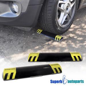 2 Pcs Car Stop Parking Assist Stopper Curb Garage Wheel Wedges