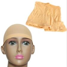 2pcs Hot Unisex Nylon Elastic Beige Wig Liner Cap Snood Stretch Mesh Hair Net