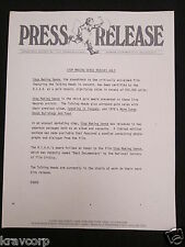 Talking Heads—1985 Press Release