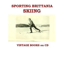 Skiing Ski Collection of Vintage Books on CD Snow Winter Sports Gift for Skiers