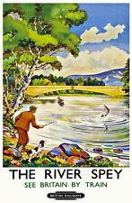 TU28 Vintage River Spey Scotland Railway Travel Poster Print A3 A2