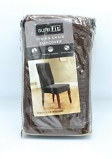 Sure Fit Dining Chair Slipcover Cover Stretch Oar Brown Honeycomb One Piece
