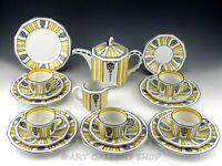 Vintage Rudolstadt Germany COFFEE TEA SET POT CUPS SAUCERS TRIO PLATES Set 19PC