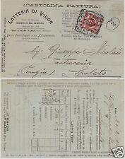 # ALANO - FENNER - 1911 - testatina LATTERIA DI VIDOR burro etc per SPOLETO