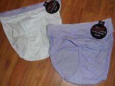 2 hi-cut bikini brief ~ small / 5 ~ lavender polka dot 100% cotton Sara Max