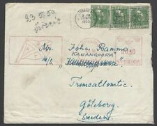 Ireland 1950 cover Limerick to Sweden with Sweden 0.60 postage due meter