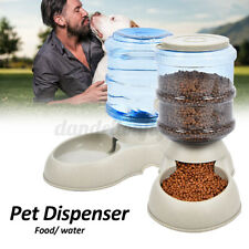 3.75L Pet Water Food Fountain Cat Dog Automatic Dish Bowl Feeder Dispenser h
