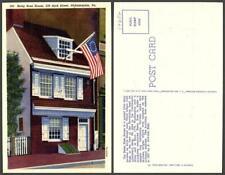 New listing Pennsylvania Philadelphia shop army flag building street house Vintage Postcard