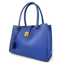Authentic Salvatore Ferragamo Au-21 GanciniHardware Shoulder Bag leather[Used]