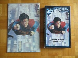 1978 Superman Flight The Movie Jigsaw Puzzle DC Comics