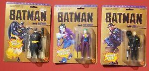 Toy Biz Vintage 1989 DC Comics Batman Action Figure Lot Joker Bob Batman Sealed