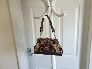 "Handbag""Liz Claiborne"" Clutch Bag Beige Brown Burgundy Colour  New Without Tags"