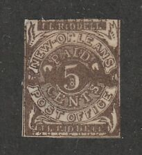 KAPPYSSTAMPS 11718-15 US CONFEDERATE STATES LOCAL NEW ORLEANS 62x5 RETAIL $250