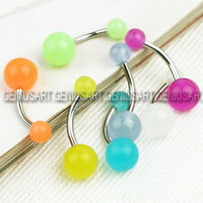 7pcs Glow in the Dark Belly Button Navel Bar Rings Piercing Jewelry Fashion Gift