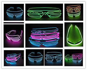 EL wire emitting LED fill light shutter IDC EDC rave right sunglasses clothing