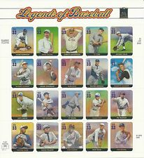Scott # 3408 - Legends Of Baseball 2000 Issue - Cat. Val. $14.00
