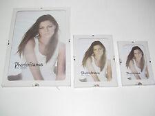 Lot x3 Cadres Photo Sous Verre Transparent 13x18 cm + 10x15 cm + 21X30 cm NEUF