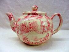 Heron Cross Pottery Pink toile de jouy design 2 cup teapot made in UK.