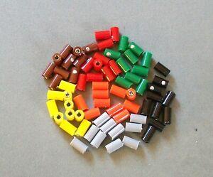 10 Stück  Muffen / Kupplungen für Modelleisenbahnen, Puppenhäuser... Farben